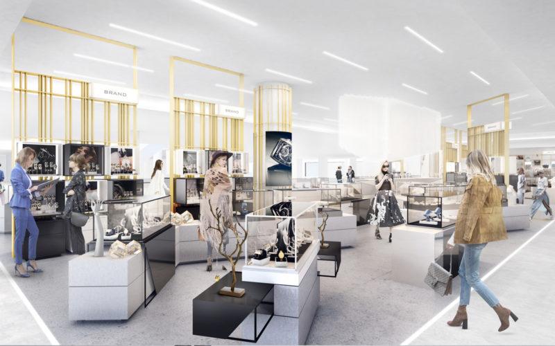department store design - jewellery department
