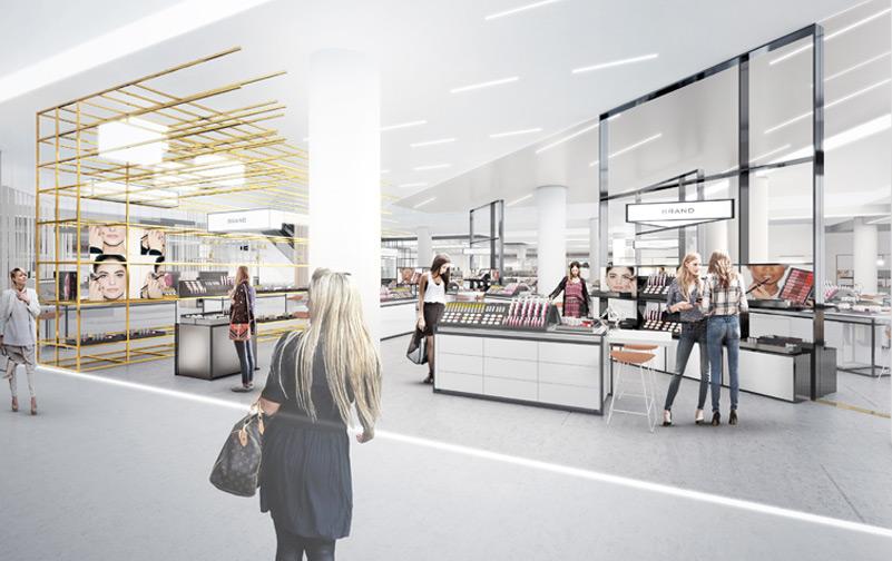 department store design - market space