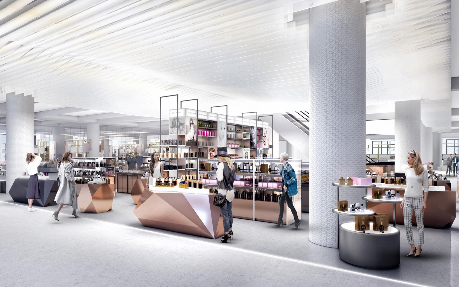 department store design - perfumery department