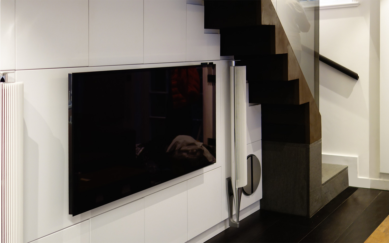 interior focus on audio visual integration