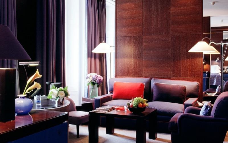 hotel design, suite louge area