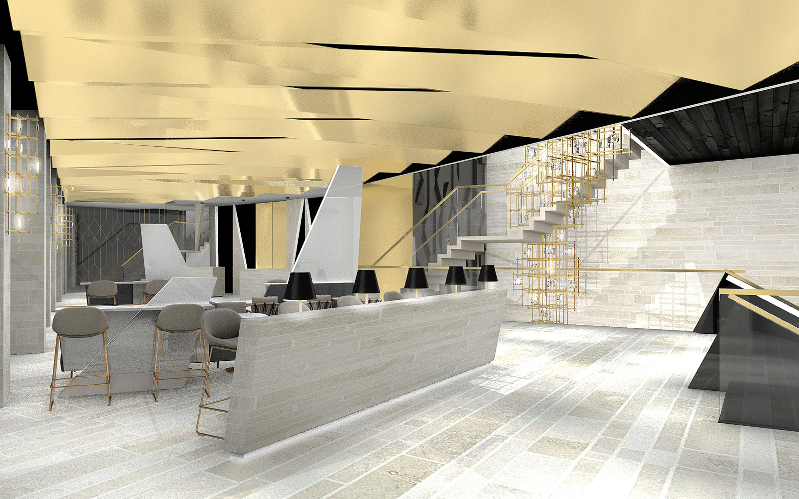 feasibility showing offer integration for a lounge area