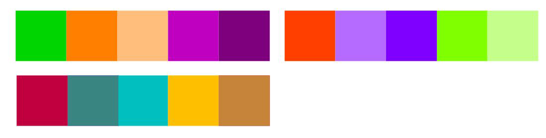 Further Examples of Triadic Colour Harmonies