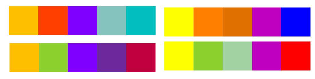 Tetradic Colour Harmony More Examples
