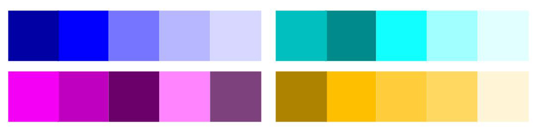 Monochromatic Colour Examples