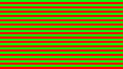 Flicker of red-green