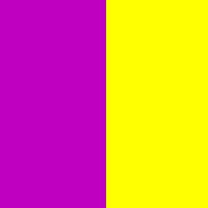 yellow-violett unequal colour contrast of quantity