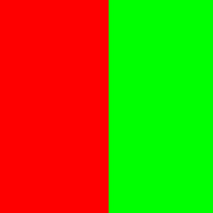 red-green equal colour contrast of quantity