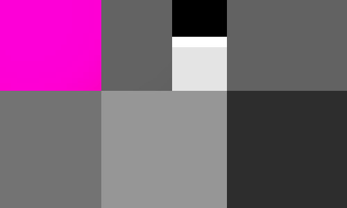 colour-greyscale contrast