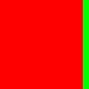 red-green unequal colour contrast of quantity
